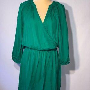 "Joie ""Molly"" 100% Silk Dress Emerald Green, Size S"